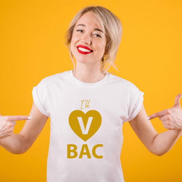 Girl in slim fit I Will VBAC t-shirt